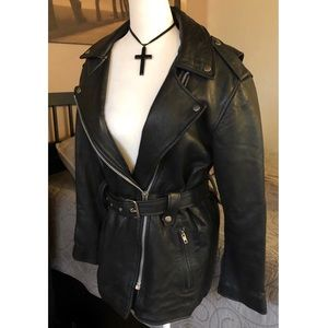 Vintage leather motorcycle jacket 🕶